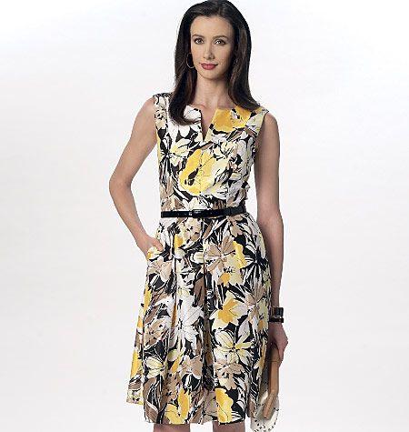 V9167 VOGUE Schnittmuster Kleid EASY!