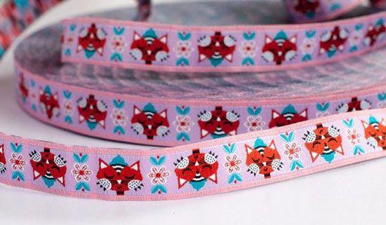 farbenmix Webband CAT LOVE PINK von jolijou