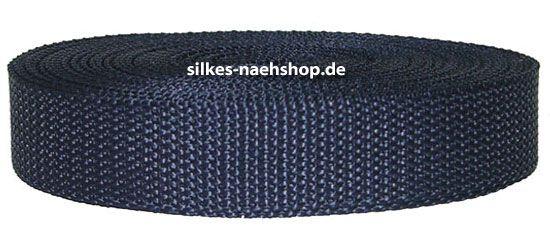 Gurtband 20mm dunkelblau