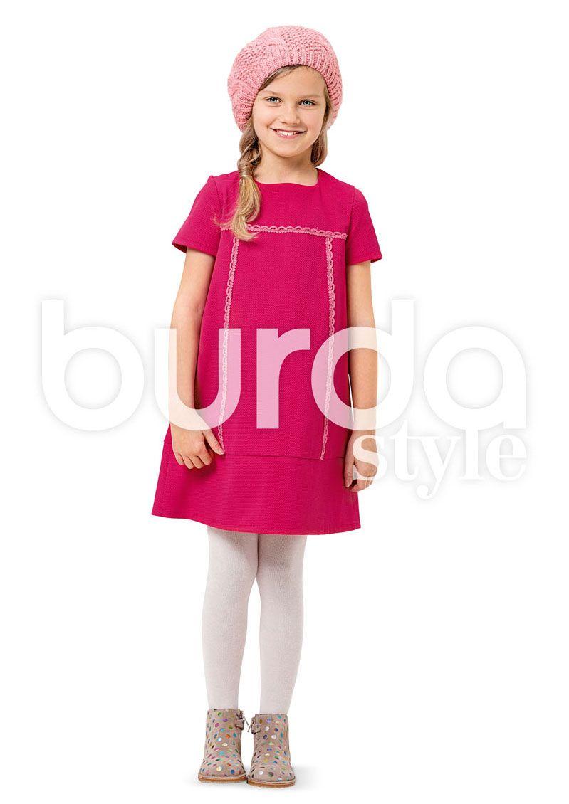 9380 BURDA KIDS Schnittmuster Kleider EASY!