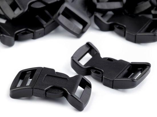Steckschnalle mit Schrägstellung 20mm schwarz