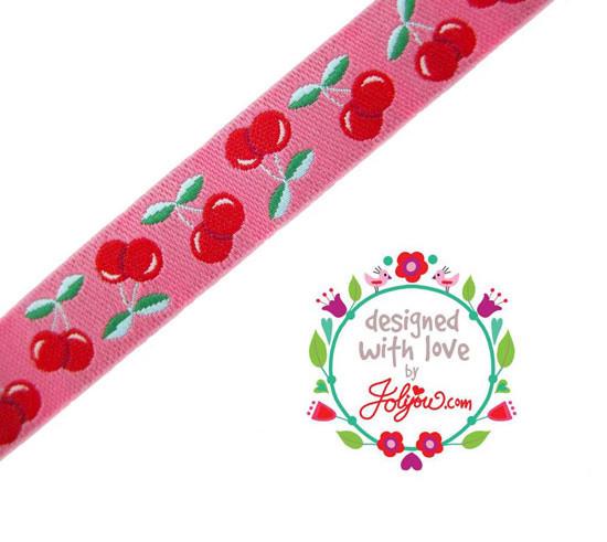 farbenmix Webband Jolly Cherry Kirschen