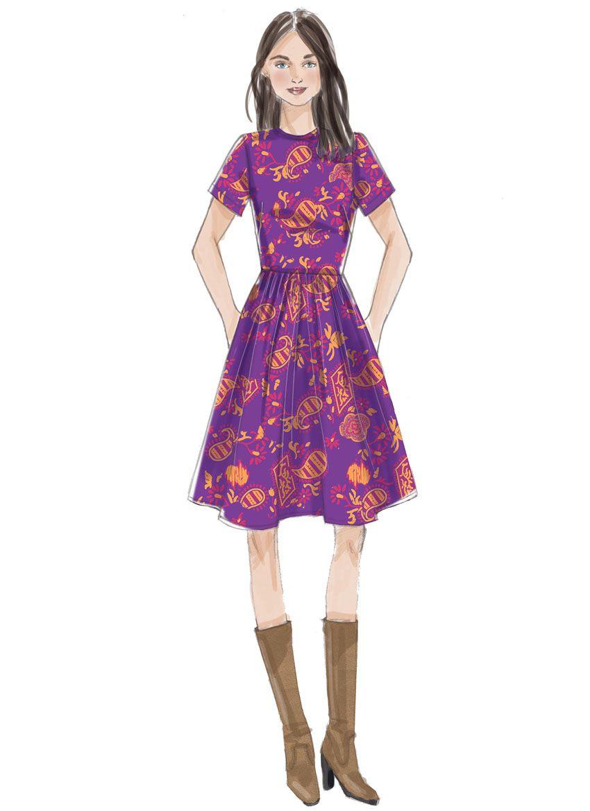 V9197 VOGUE Schnittmuster Kleid EASY!
