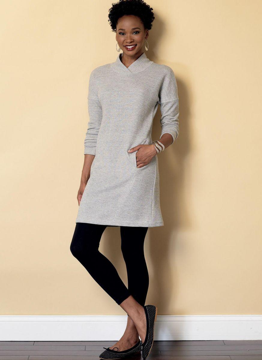 B6388 Butterick Schnittmuster Kleid Shirt Weste Hose