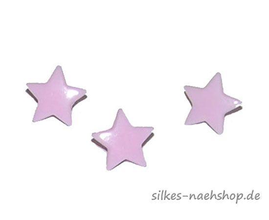 SNAPS Sternchensnaps Druckknöpfe 20er-Pack rosa