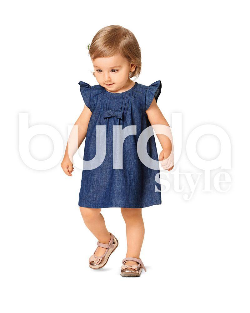 9358 Burda Schnittmuster Kinderkleid und Bluse