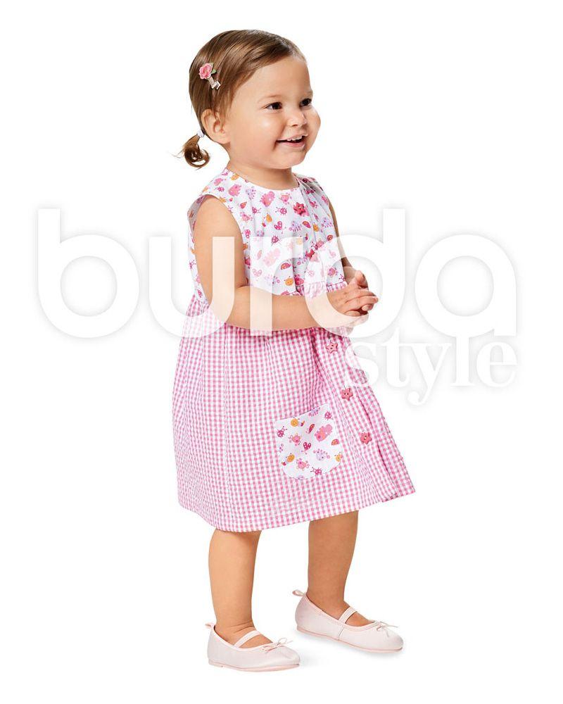 9357 Burda Schnittmuster Kinderkleid und Hose