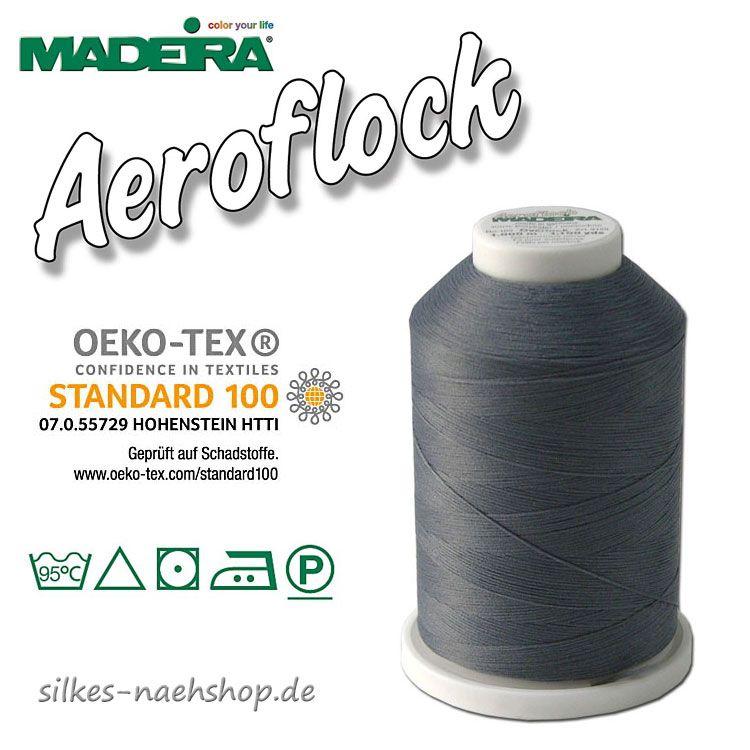 Madeira Aeroflock Bauschgarn grau 1000m