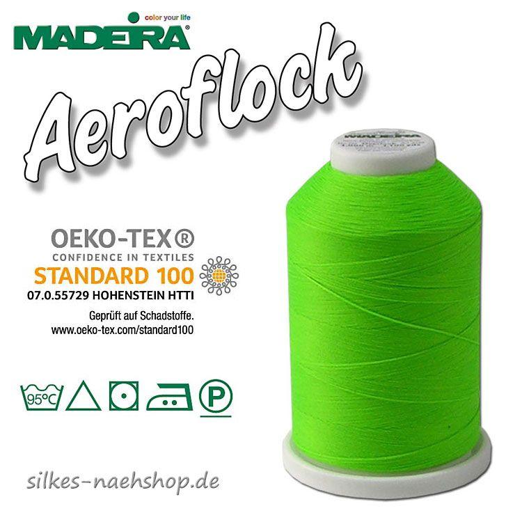 Madeira Aeroflock Bauschgarn neongrün 1000m