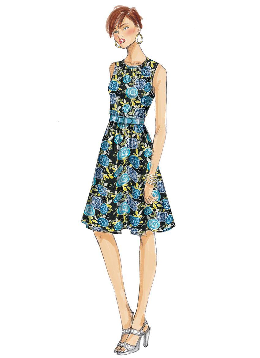 B6450 Butterick Schnittmuster Kleid