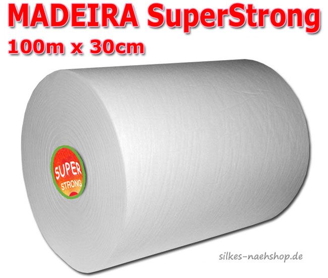 Stickvlies Madeira SuperStrong weiß 100m x 30cm