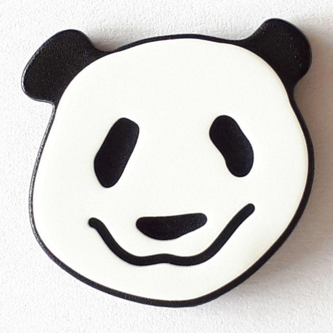 Kinderknopf Panda Bär weiß