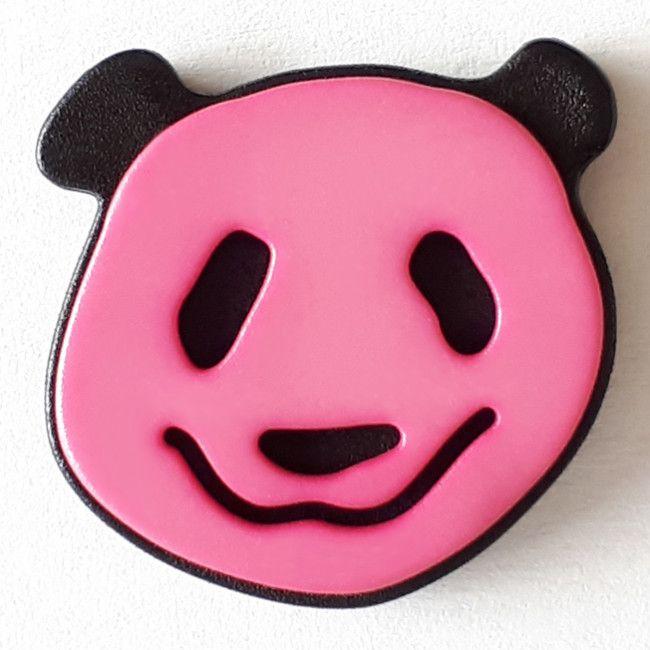 Kinderknopf Panda Bär pink