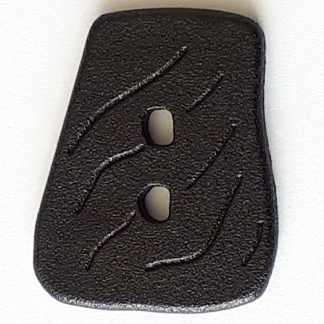 Knopf im Vintage-Stil 45mm asymetrisch schwarz