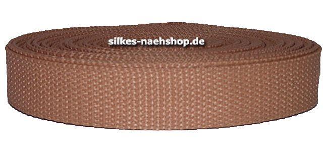 Gurtband 40mm hellbraun