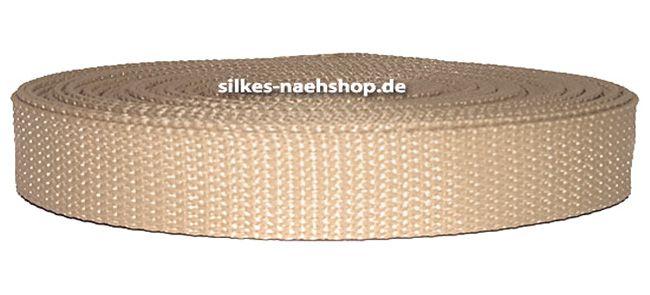 Gurtband 25mm hellbeige sand