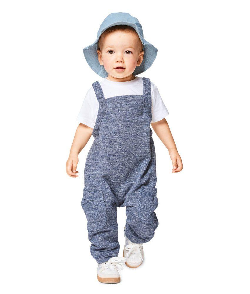 9337 Burda Schnittmuster Kinder + Baby Jersey-Latzhose