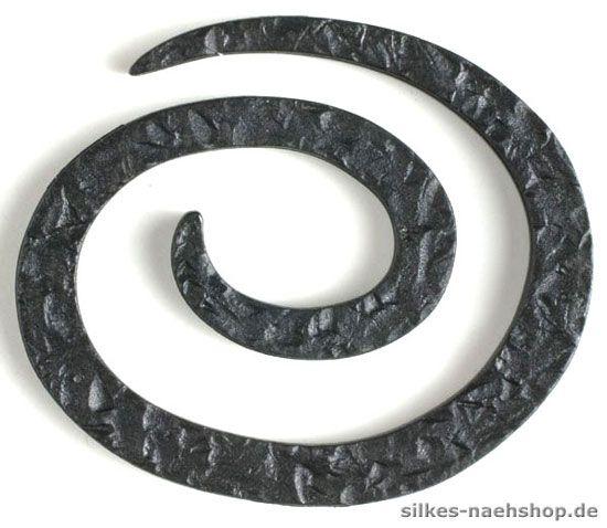 Knopf in Spiralenform 50mm Kunststoff schwarz