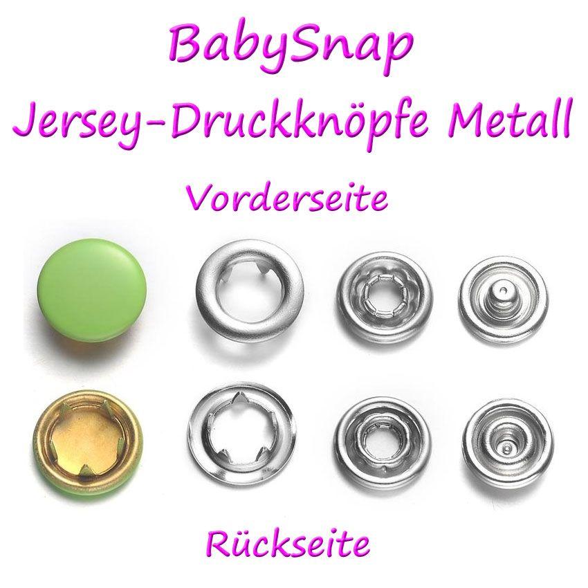 BabySnap Jersey-Druckknöpfe Metall