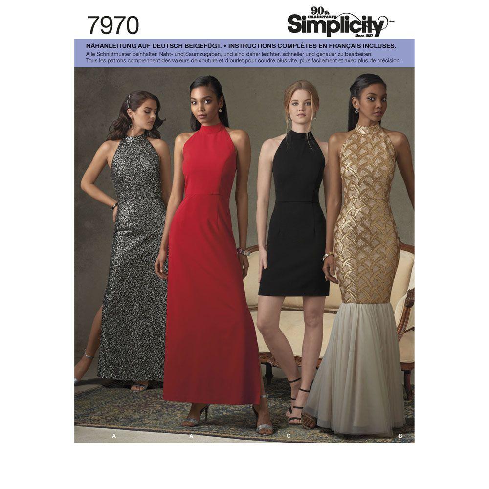 7970 Simplicity Schnittmuster Abendkleid Cocktailkleid