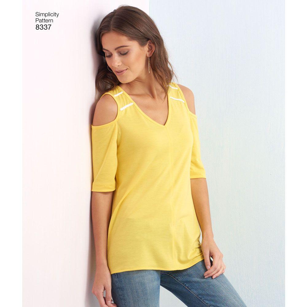 7974 Simplicity Schnittmuster Shirt Top XXS-XXL