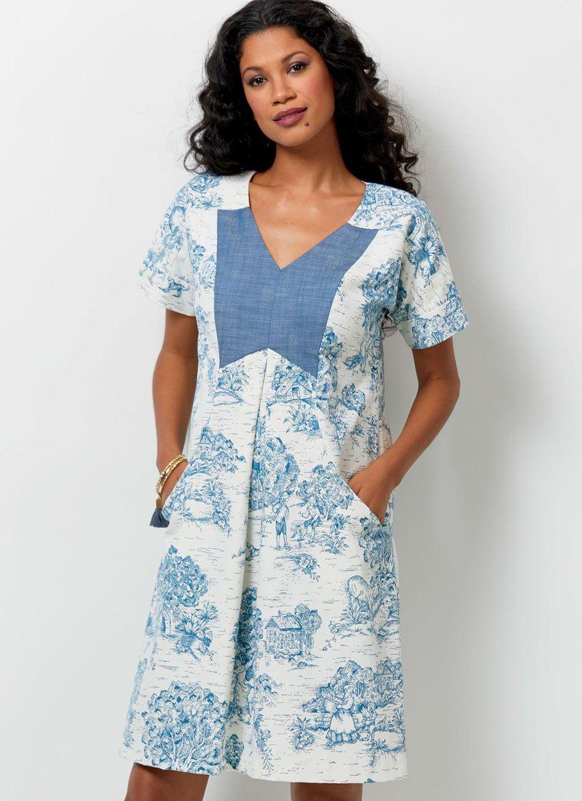 B6567 Butterick Schnittmuster Kleid