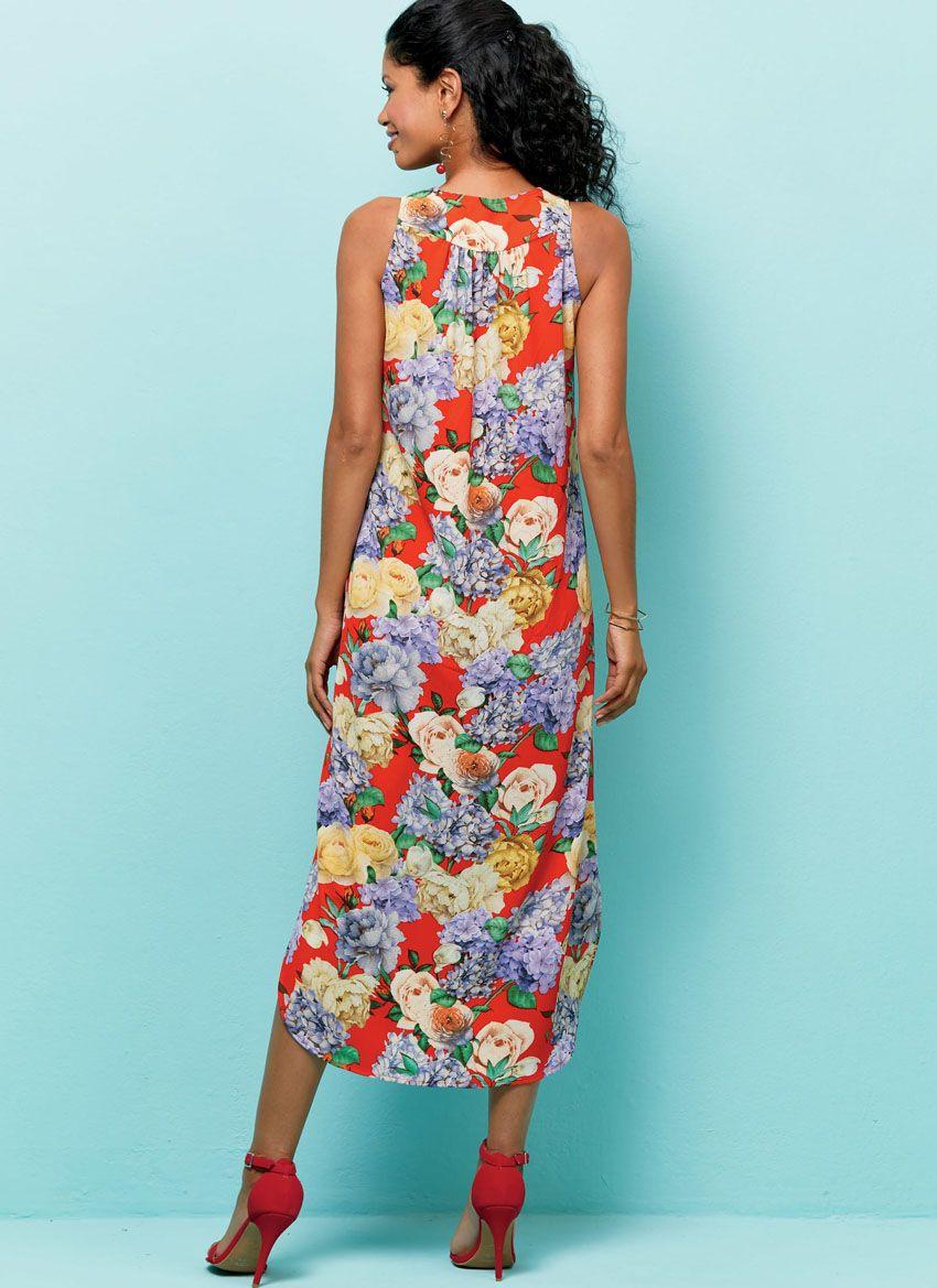 B6551 Butterick Schnittmuster Kleid Maxikleid EASY