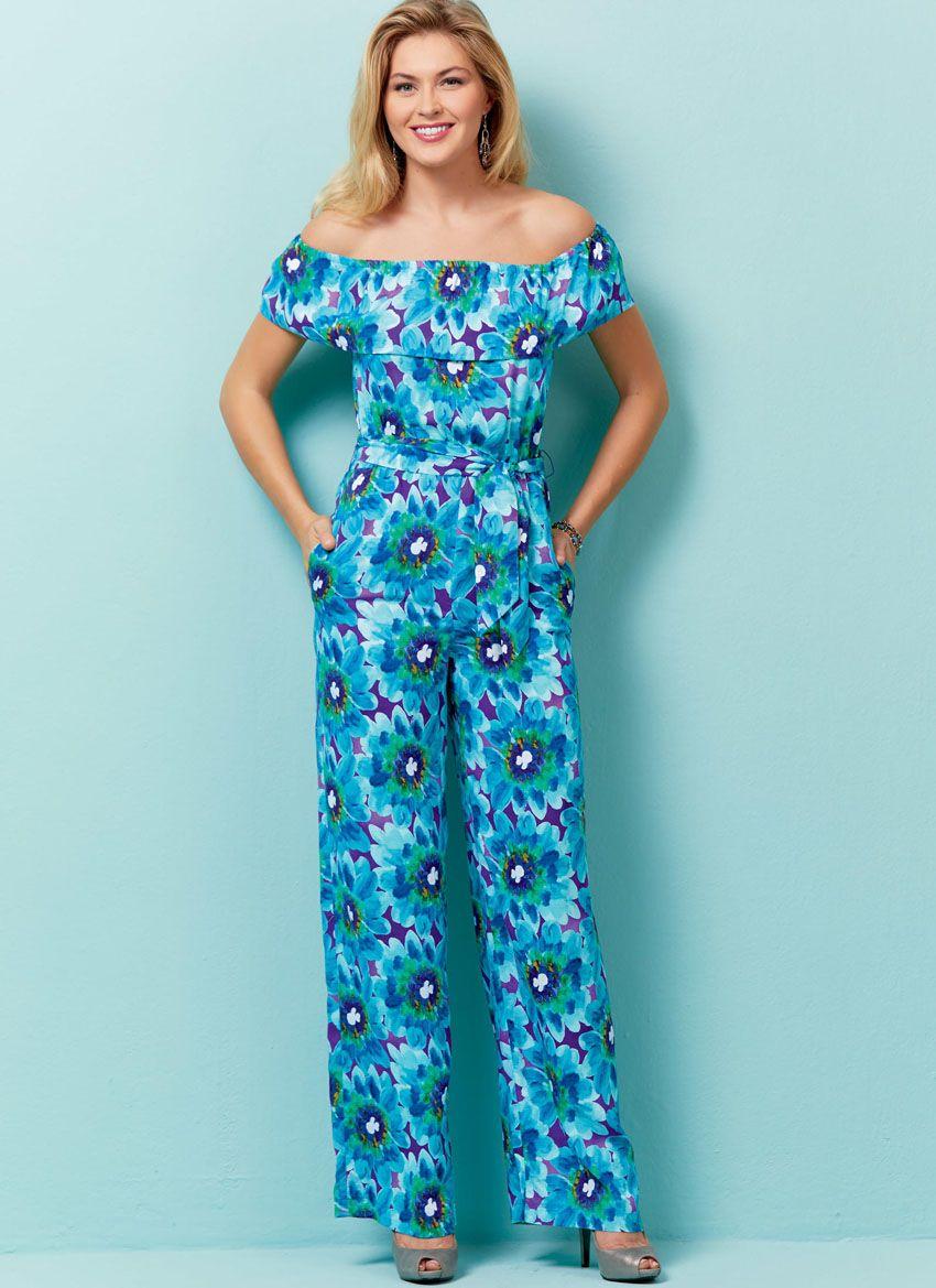 B6566 Butterick Schnittmuster Overall + Kleid