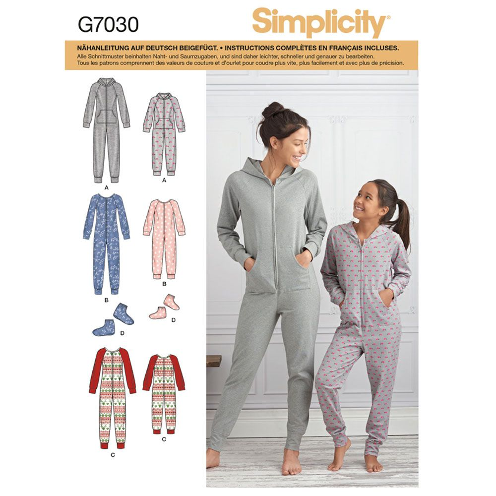 7030 Simplicity Schnittmuster Overall Jumpsuit