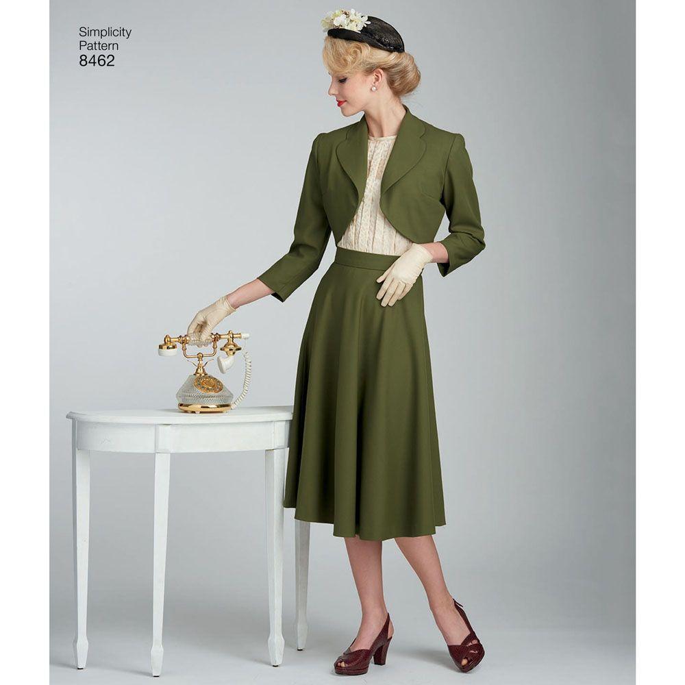 7016 Simplicity Schnittmuster Retro Kleid 40er Jahre