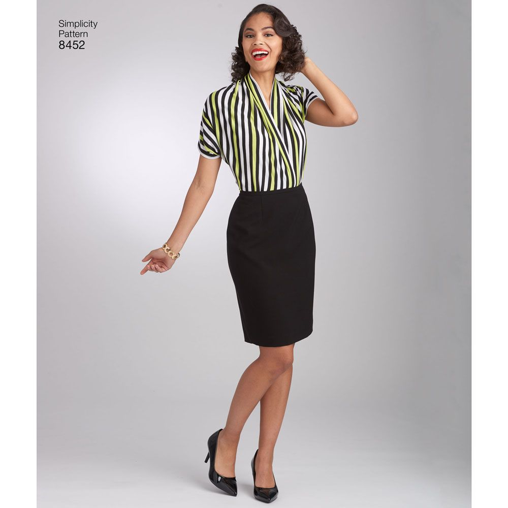 7010 Simplicity Schnittmuster Retro Jerseybluse 50er Jahre