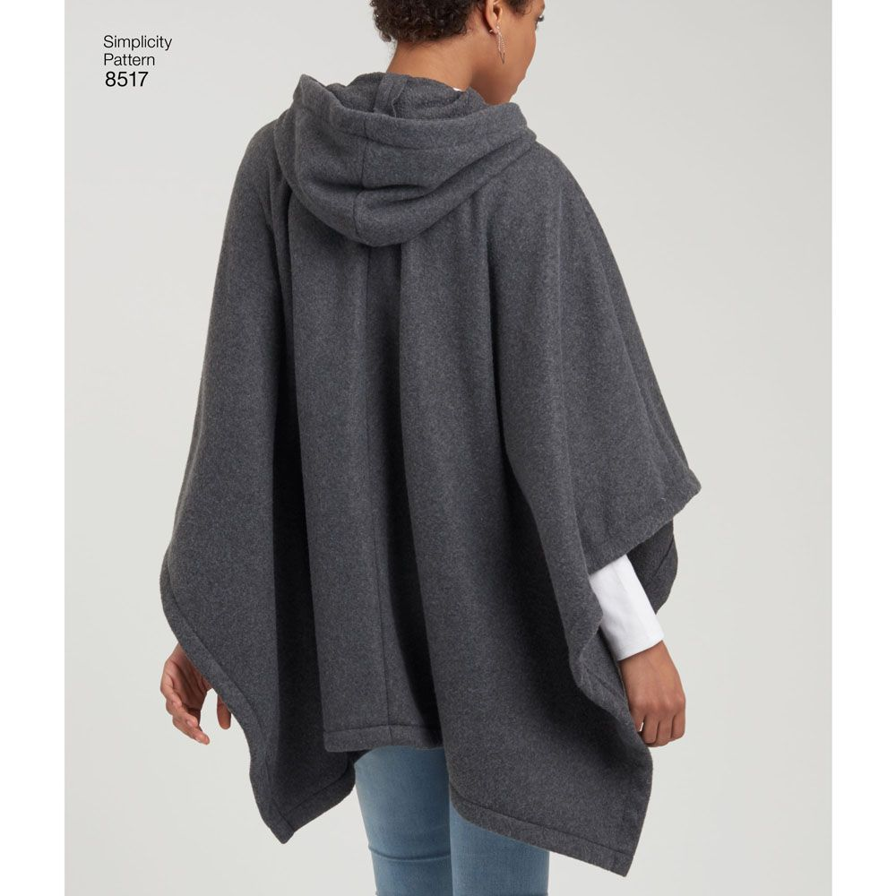 7027 Simplicity Schnittmuster Poncho EASY!