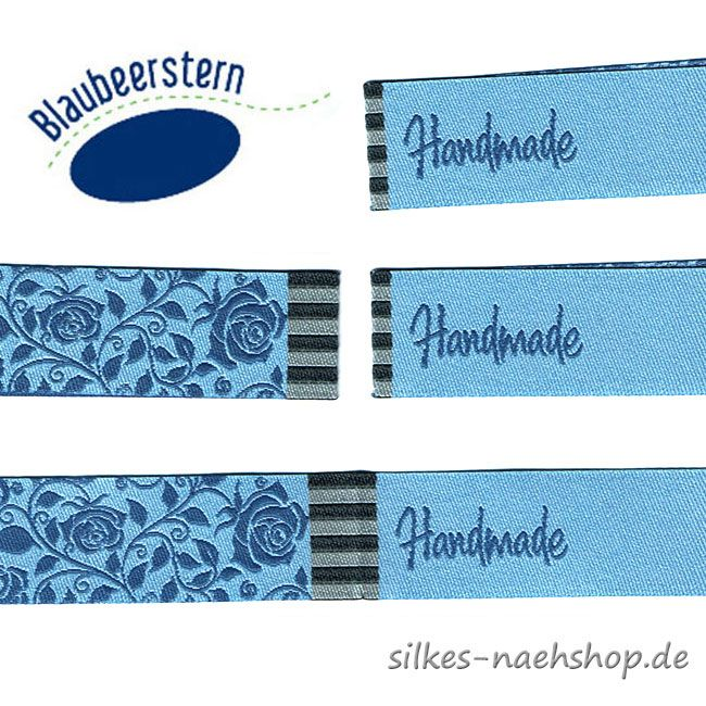 Handmade Label Rosengarten abendblau 4er-Pack