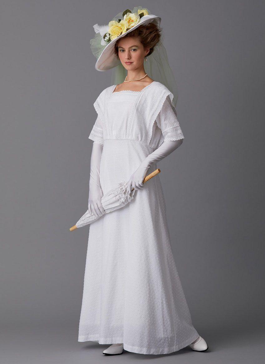 B6610 Butterick Schnittmuster historisches Kleid