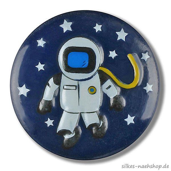 Kinderknopf Astronaut dunkelblau 18mm
