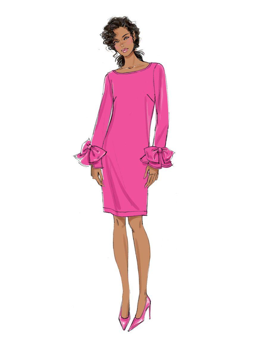 V9325 VOGUE Schnittmuster Kleid EASY