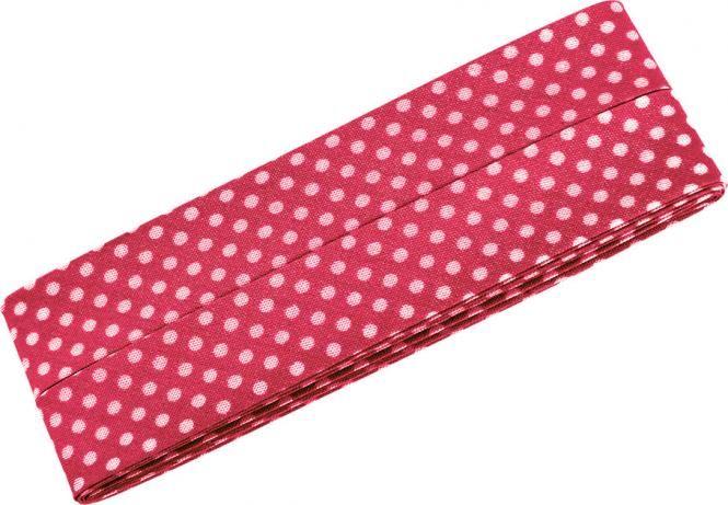 3m Schrägband mit Pünktchen pink