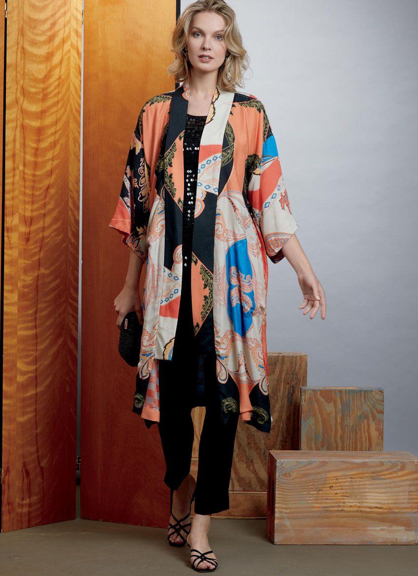 V1610 VOGUE Schnittmuster Kimono Jacke
