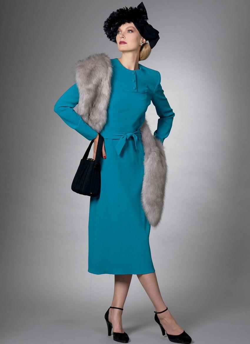 V9346 VOGUE Vintage Schnittmuster Kleid 40er Jahre