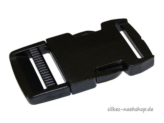 Steckschnalle f. Gurtbänder 20mm schwarz
