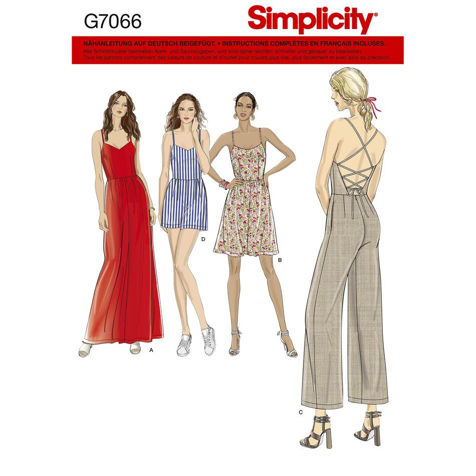 7066 Simplicity Schnittmuster Overall Kleid