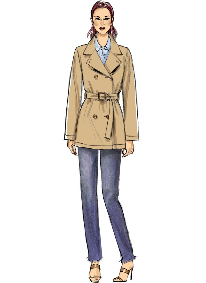 V9367 VOGUE Schnittmuster Trenchcoat Mantel EASY