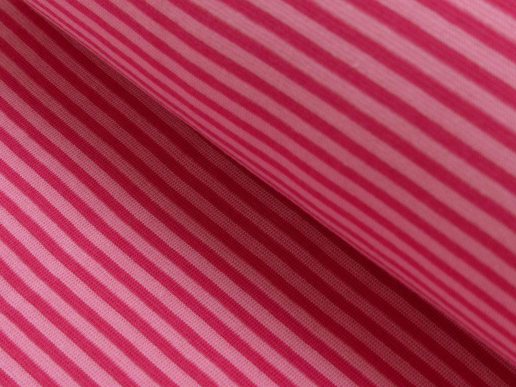 30cm Bündchenstoff geringelt pink-rosa