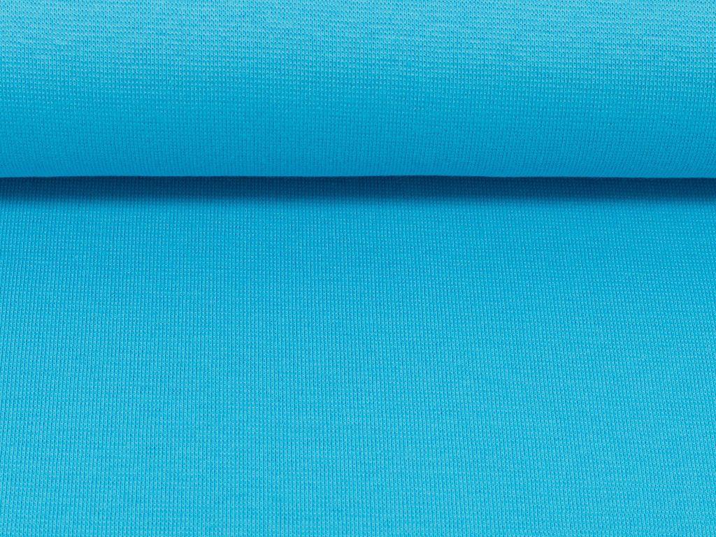 50cm Bündchenstoff türkis glatt