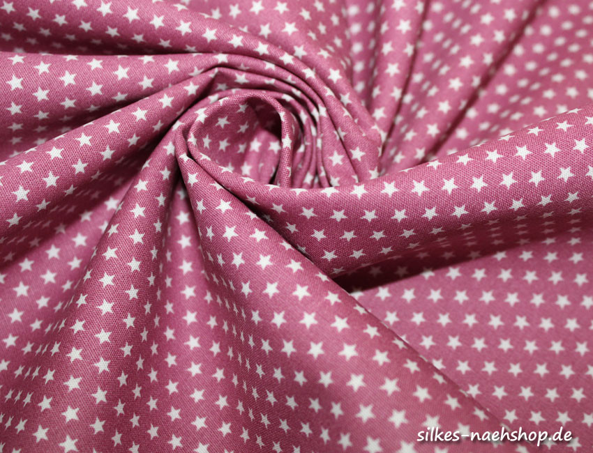 50cm Baumwollstoff MIX-IT STARS mauve