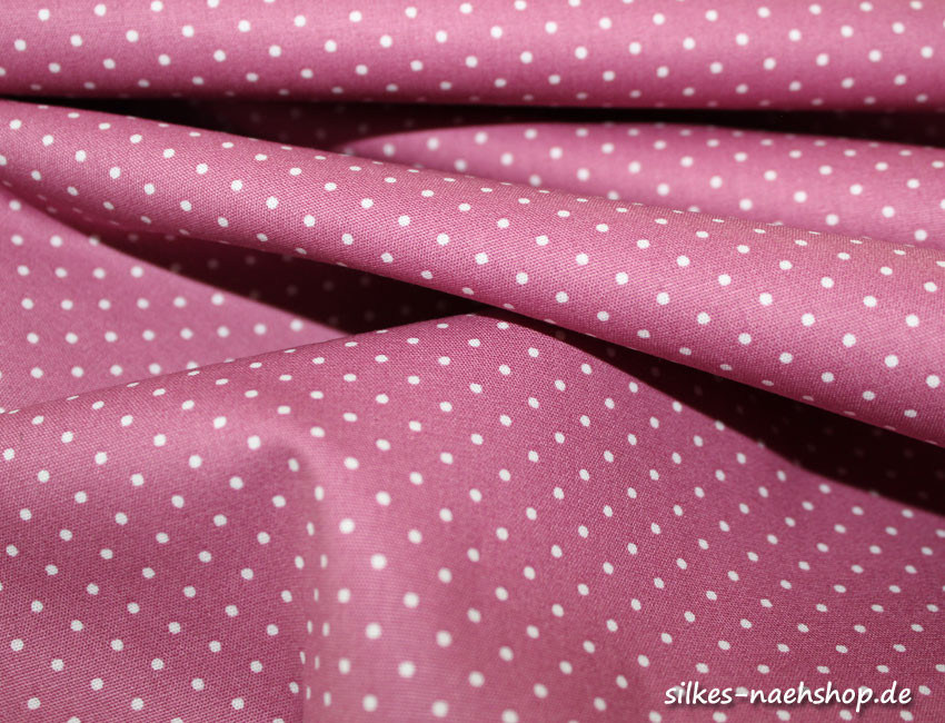 50cm Baumwollstoff MIX-IT DOTS mauve