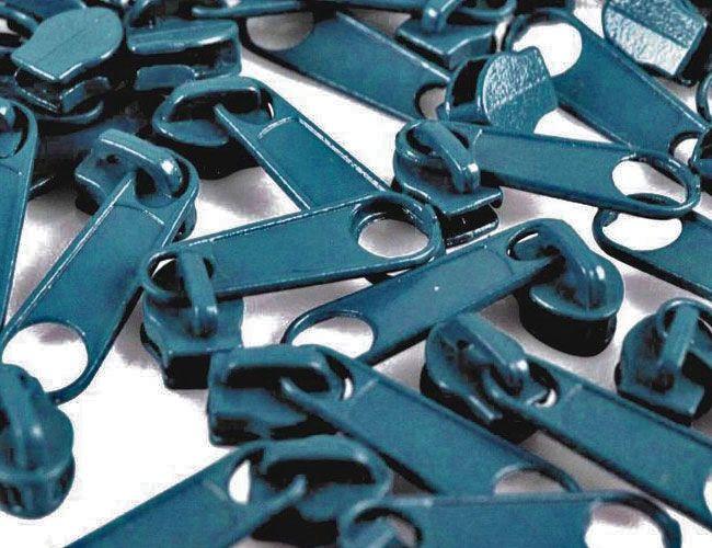 Zipper für Reißverschlüsse 3mm hellpetrol 10er-Pack
