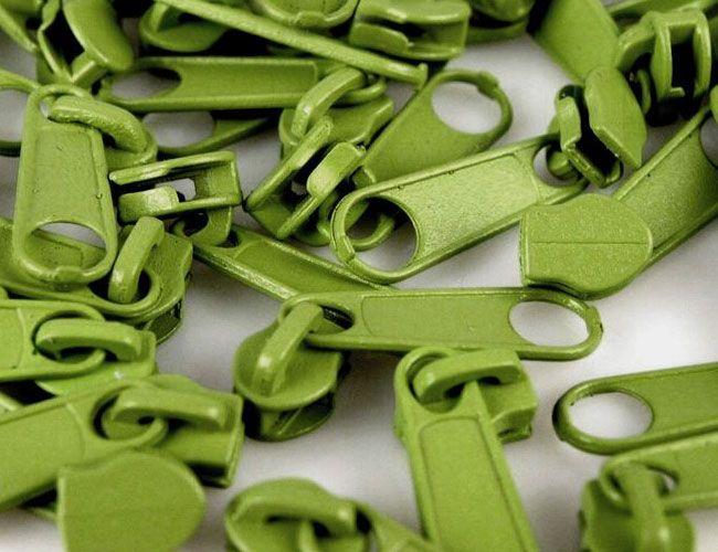 Zipper für Reißverschlüsse 3mm limegrün 10er-Pack