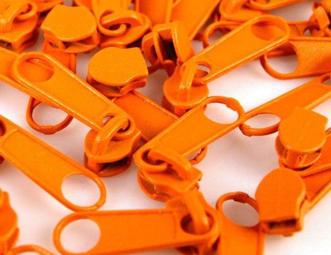 Zipper für Reißverschlüsse 3mm orange 10er-Pack