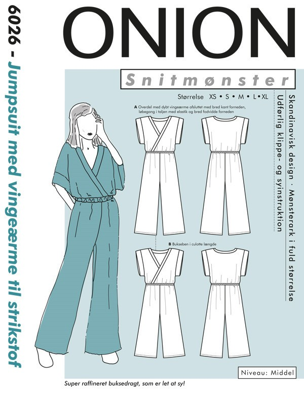 6026 ONION Schnittmuster Jersey-Overall XS-XL